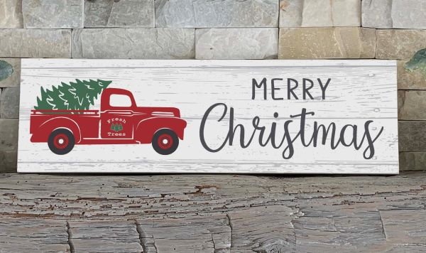Sign - Red Truck