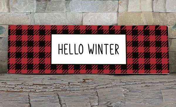 Sign - Hello Winter