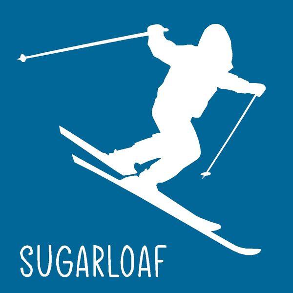Skier - Downhill 4x4 Wood Block