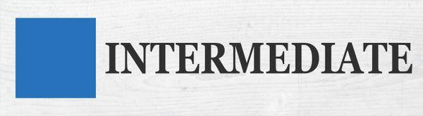 Ski Sign - Intermediate
