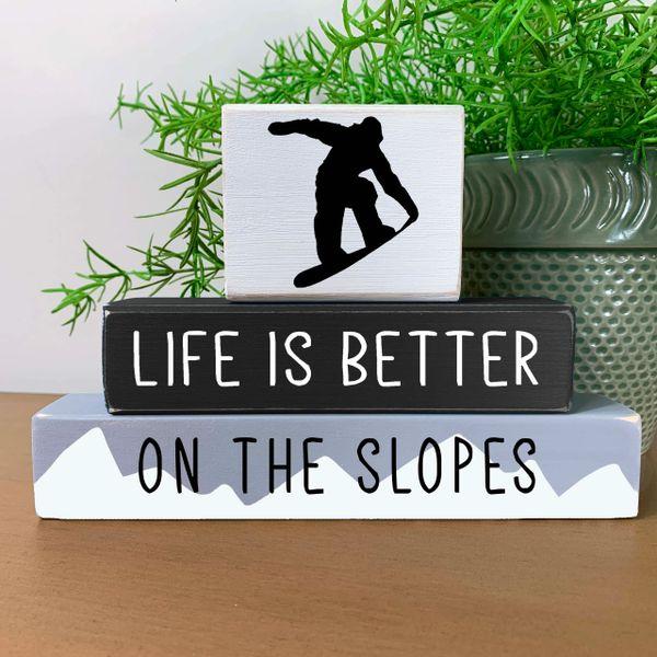 Ski - Life is Better on the Slopes (choose topper)