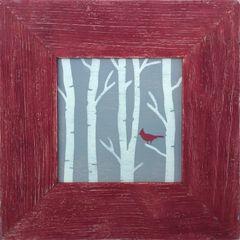 Birch Tree Cardinal