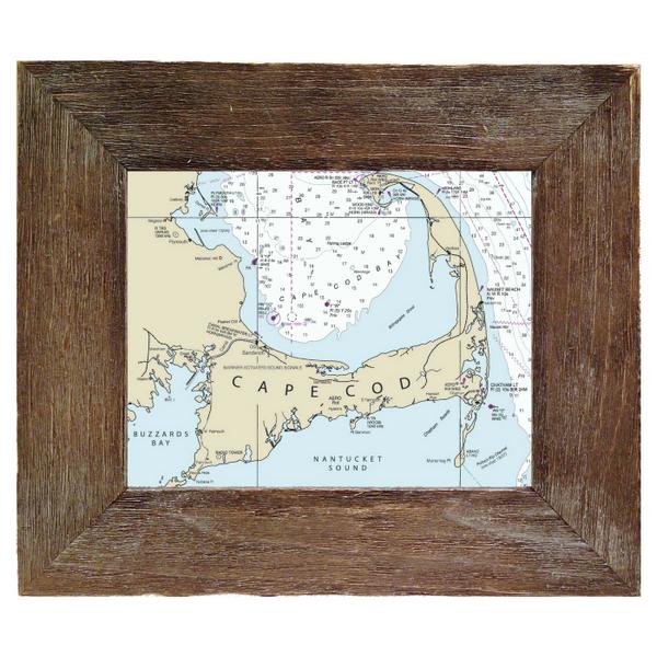 Customizable Framed Nautical Charts