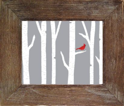 Cardinal in the Tree (4 sizes)