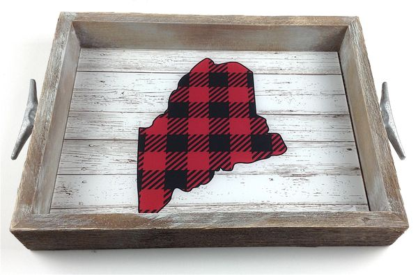 Red Buffalo Check (custom location) - Interchangeable Insert Serving Tray