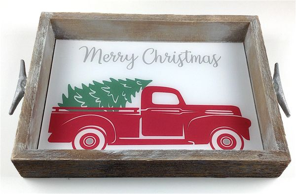SALE - Red Truck Interchangeable Insert Serving Tray