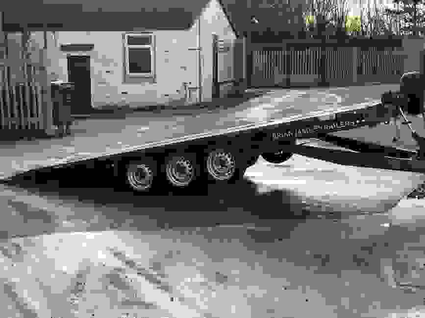 Tiltbed 3.5t Flatbed vehicle trailer