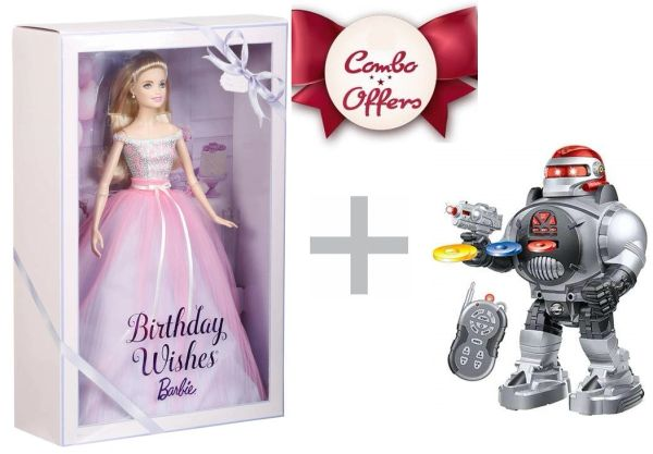 Combo pack Toys Savoir Robot and Barbie doll