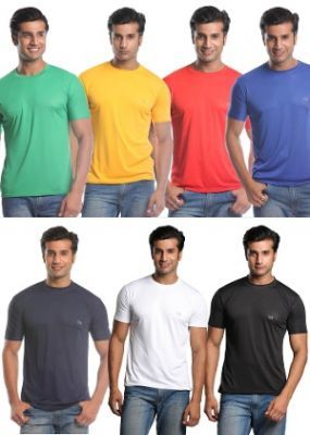 Mens Set Of 7 Multicolor T-shirt