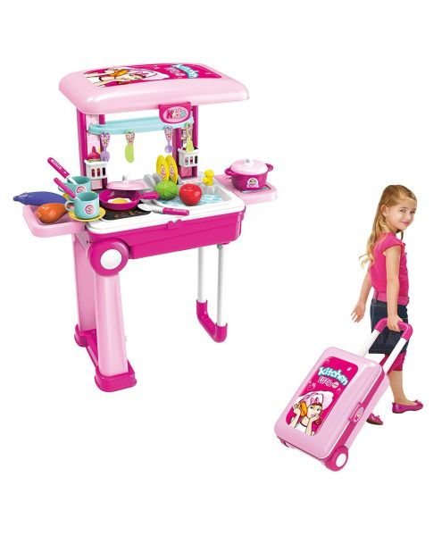 Little Chef Kitchen Set With Convertible Suitcase