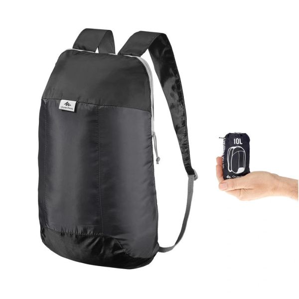 QUECHUA Ultra-Compact Backpack10-Litre - Black