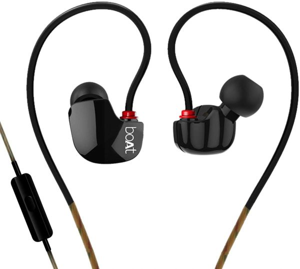 Boat Nirvanaa Uno Wired In-ear Earphones with Mic (Black)
