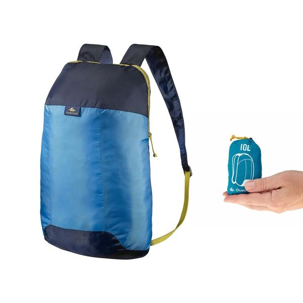 QUECHUA Ultra Compact Travel 10 Litre Backpack (Blue)