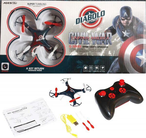 Diabolo Captain America Civil War Q Series Hyun Lights Upgraded Mini Drone Without Camera