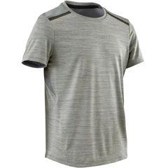 DOMYOS S500 Boys Gym Sports Half-Sleeved T-Shirt (Grey)