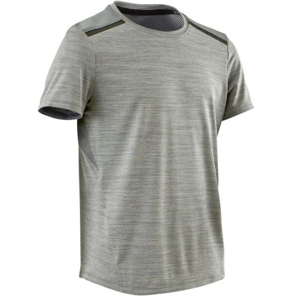 DOMYOS S500 Boys Gym Sports Half-Sleeved T-Shirt (Grey)