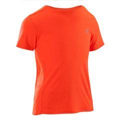 KALENJI Kids Unisex Gym Sports T-Shirt (Red)