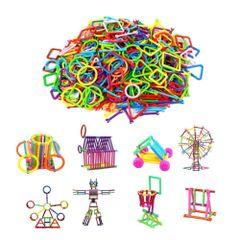 Plastic Smart Stick Intelligence Educational Building Blocks Construction Kids Toys (Multicolor)