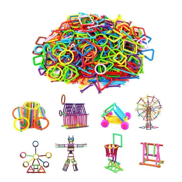 Plastic Smart Stick Intelligence Educational Building Blocks Construction Kids Toys (Multicolor)