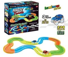 Magic Tracks Bend Flex & Glow Racetrack with LED Flashing Race Cars Battery Operated