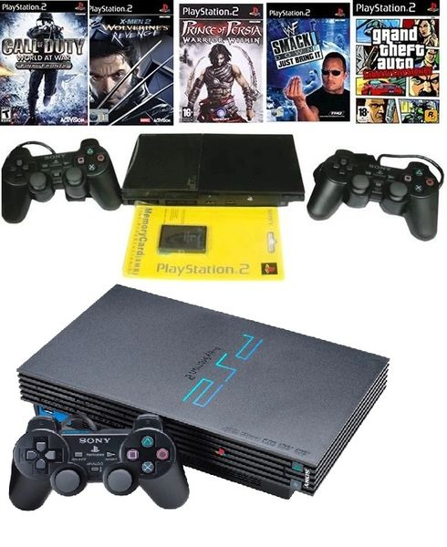 Sony PlayStation 2 Gaming Console PS2 150 GB Hard Disk With 50 Games Preloaded(Black)