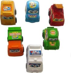Combo Set of 6 Pull Back Toy Car Small