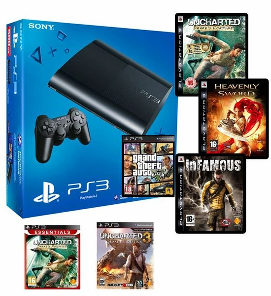 Sony PlayStation PS3 Console Slim 320 GB (Black)