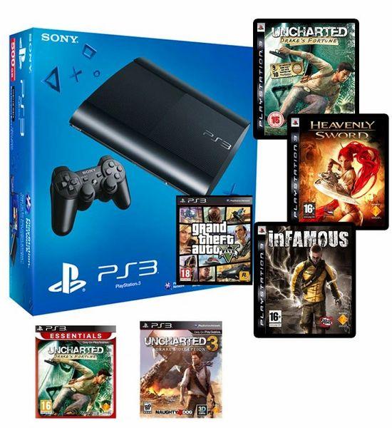 Sony PlayStation PS3 Console Slim 320 GB (Black)