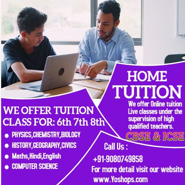 ONLINE TUITION for CLASS 6TH TO 8TH (FREE 5 DAYS DEMO CLASS)