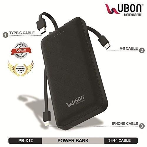 UBon 10000 mAh Power Bank (Black)
