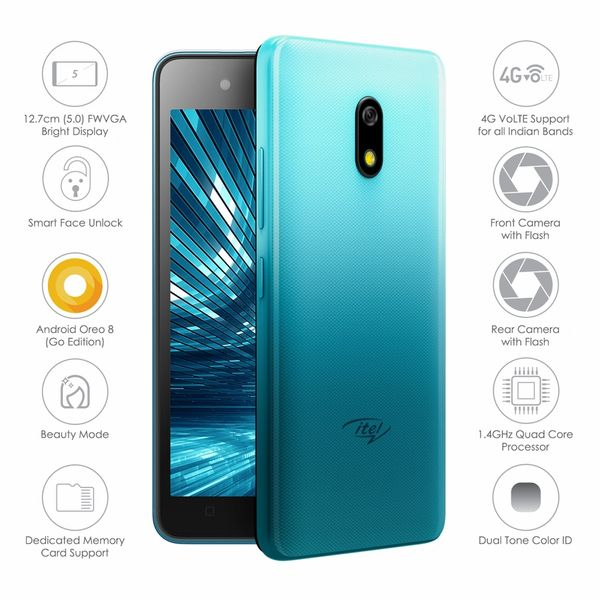 Itel A23 Storage 8 GB, 1 GB RAM Jio Sim support