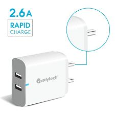 Candytech SPEEDO Dual USB Charger with 2.6 Amp Power