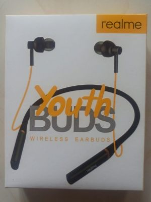 Realme Youth Buds Wireless Magnetic BlueTooth Headphone(Black)