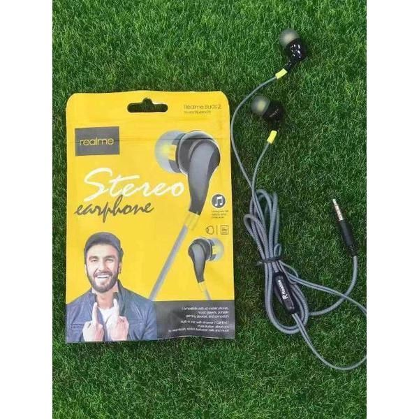 Realme STEREO Wired Earphone(Black)
