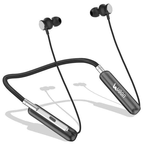 UBON Audiohive NECKBAND Wireless Bluetooth Headphone(Black)