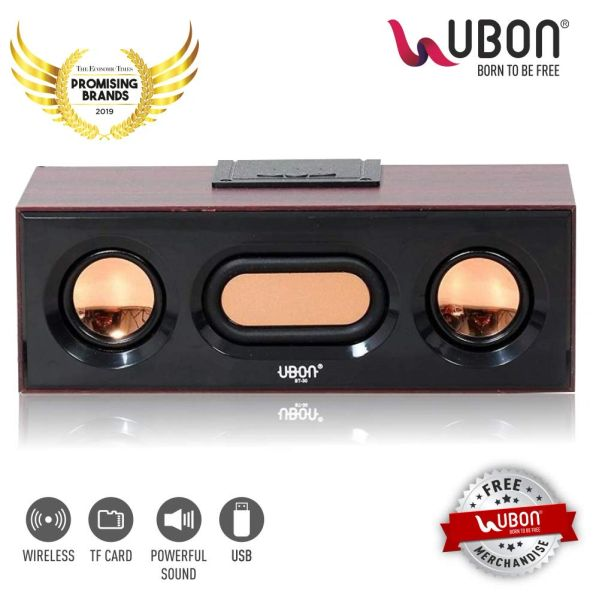 UBON GBT-30A WOODEN Wireless Bluetooth Speaker for mobile,laptop,pc