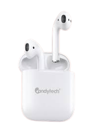 Candytech AirCandy Bluetooth Earbuds(White)