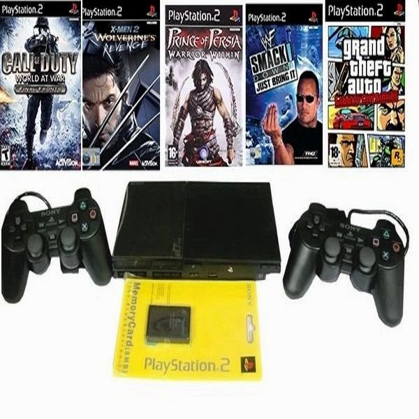Sony PlayStation PS2 Gaming Console 150 GB Hard Disk With 50 Games Preloaded(Black)