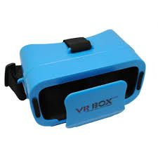 Mini VR BOX Virtual Reality Headsets with ultra 3D glasses Compatible with Android and IOS Devices (Blue, Black)