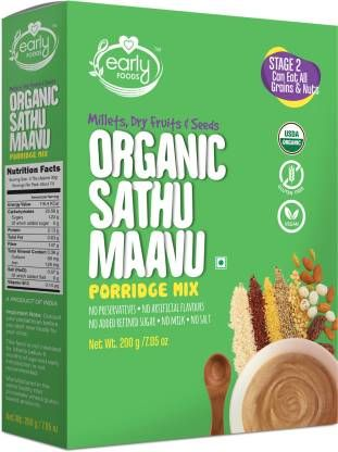 Organic Sattu Maavu Multi-grain Baby Protein powder with dry fruit 1kg-