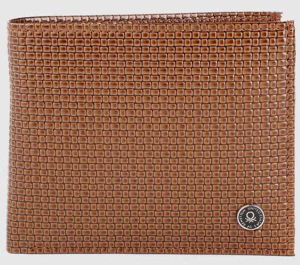 Men Brown Two Fold Wallet