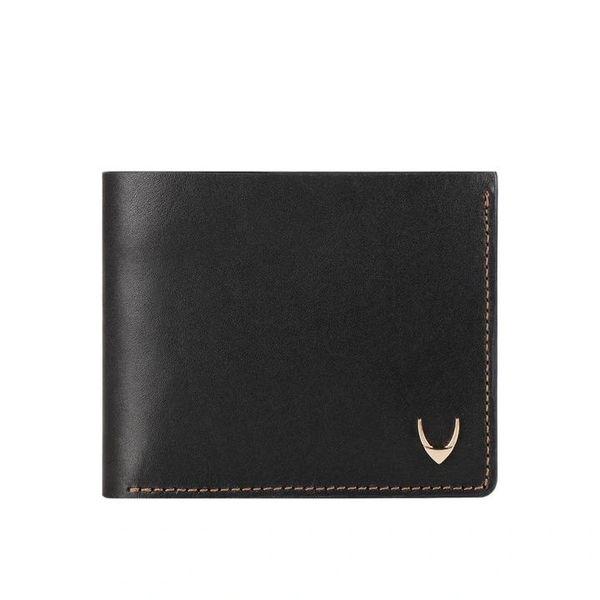 Men black two fold wallet