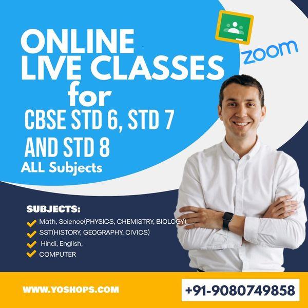 ONLINE CLASSES for STD 6 STD 7 STD 8 (FREE 5 DAYS DEMO CBSE)