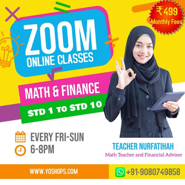 Math and Finance Classes for Kids Grade 1-10 (STD-1 to STD-10) 5 Free Demo Classes