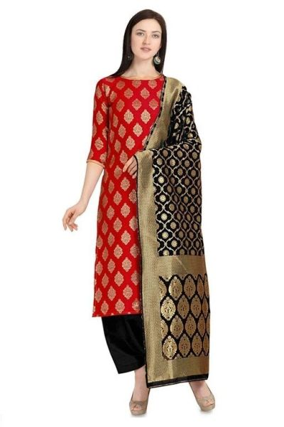 Aagam Salwar Suits and Dress Materials(Pink,RED,Black,Blue,Yellow)