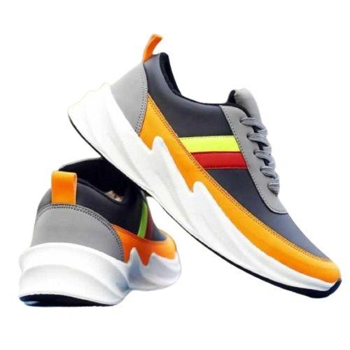 Men Sports Shoes Runners Lightweight (Yellow-Black)