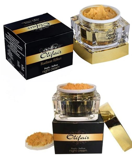 Olifair Pearls Saffron and Radiant Effect Night Cream 50 ml(Riya Fruity Soap Free)
