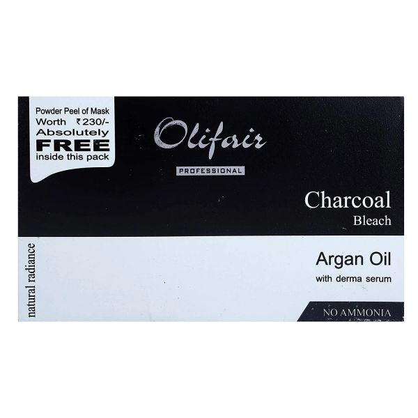 OLIFAIR Activated Charcoal Bleach With Tea Tree Essential Oil (335gm)(Riya Fruity Soap Free)