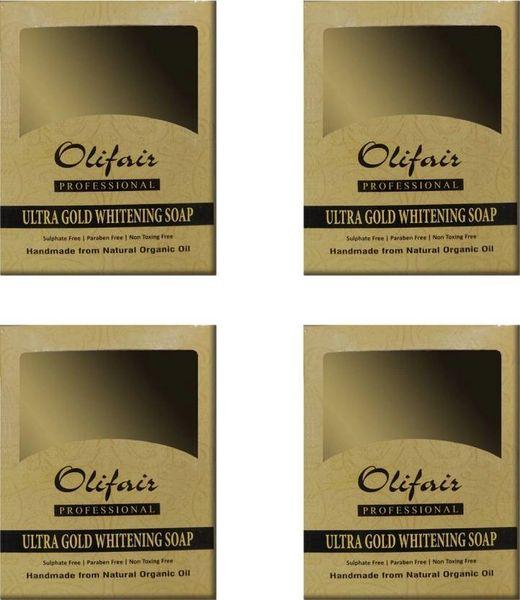 Olifair Ultra Gold Whitening Soap (Pack of 4) 400 gm(Riya Fruity Soap Free)