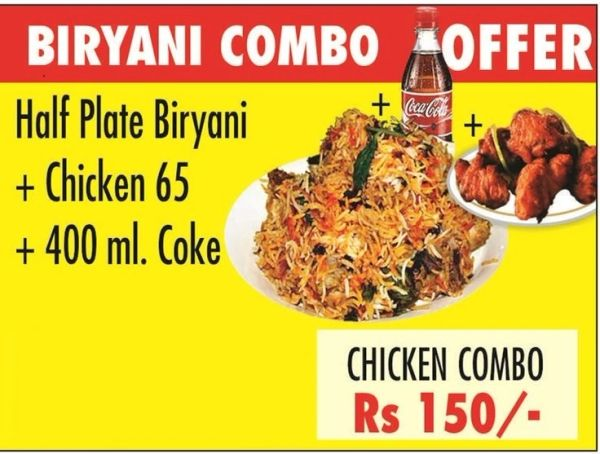 Combo Meal Chicken Biriyani (Chennai)